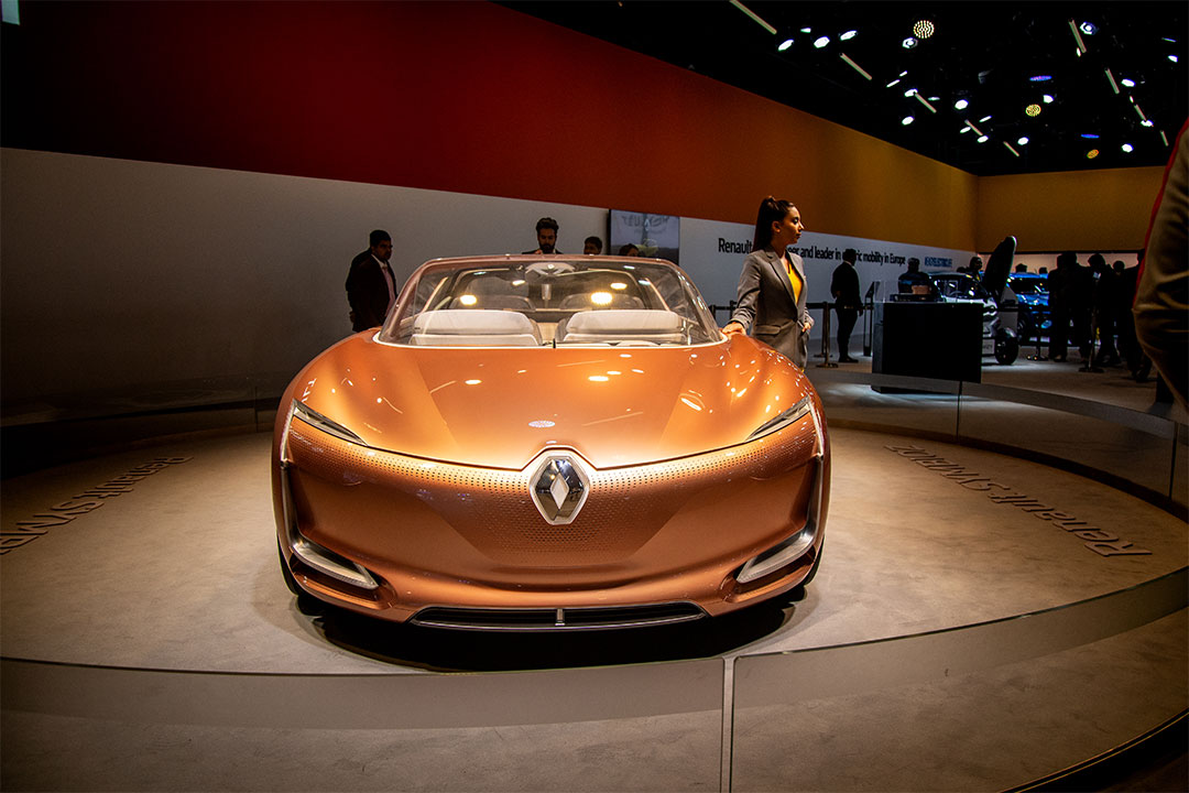 The Symbioz was showcased to portray Renault's advancement in technology
