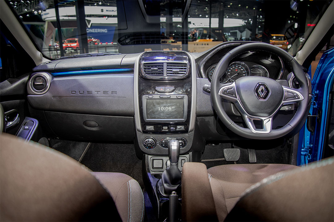 The interior of the Renault Duster with the new 1.3-litre turbo petrol engine