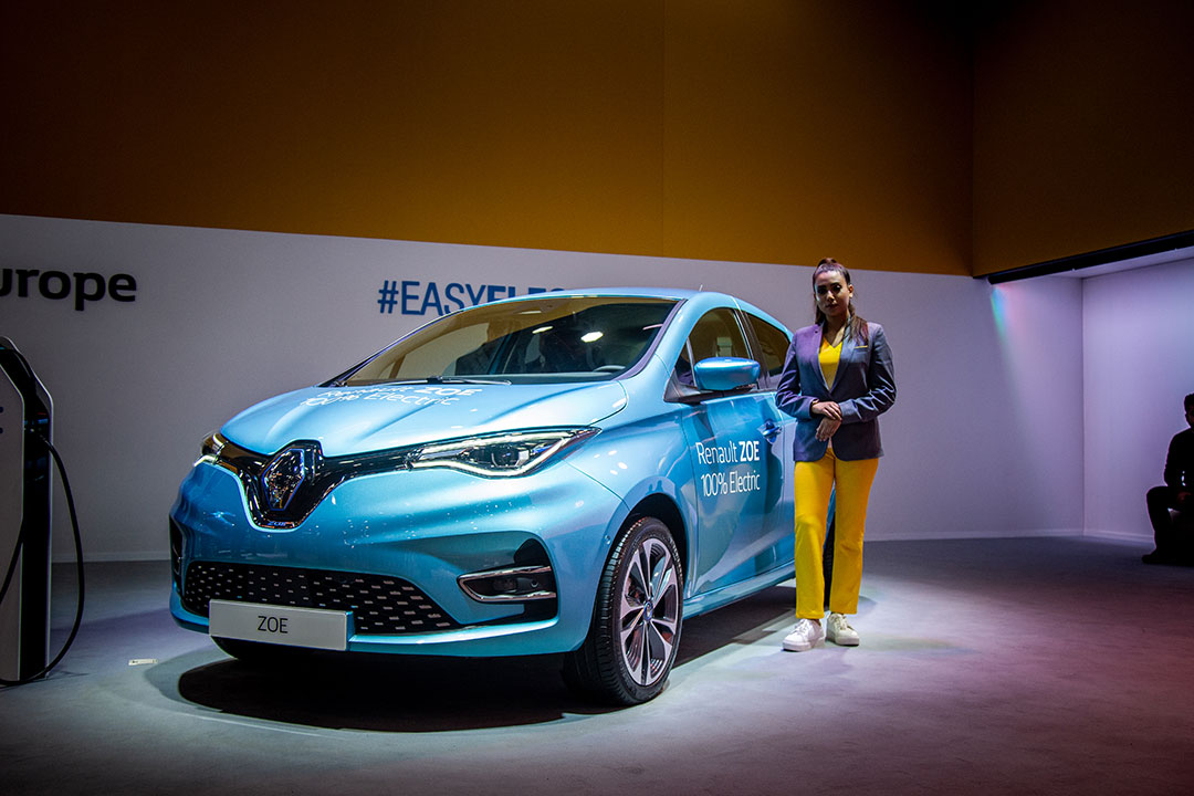 The Renault Zoe EV was showcased amongst other electric vehicles at the Auto Expo